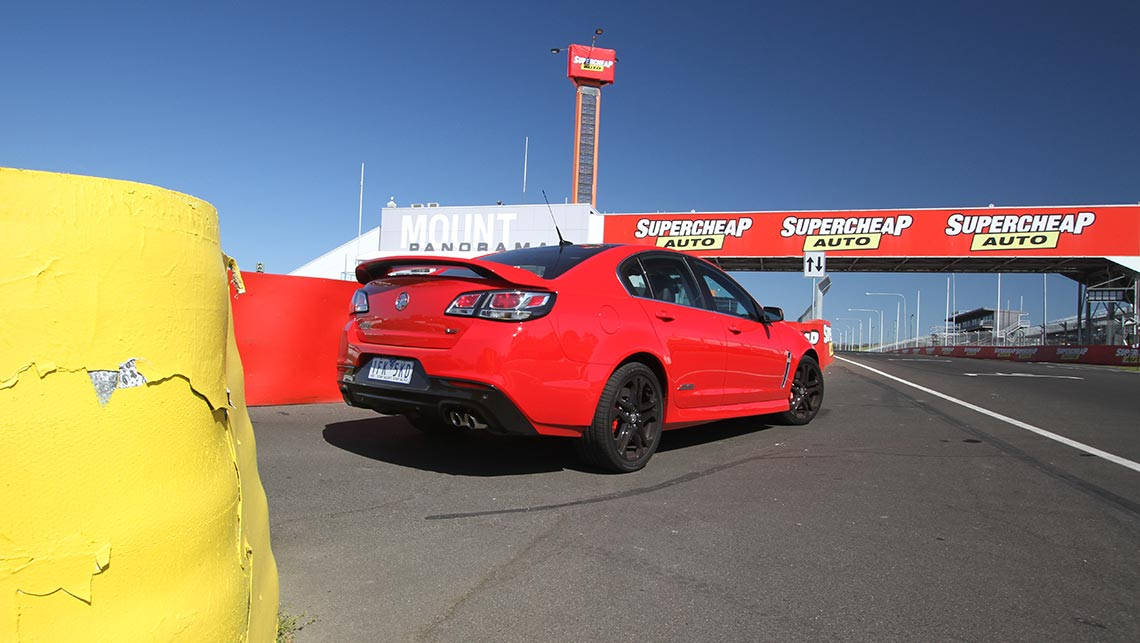 2015 VF Series II Holden Commodore SS-V Redline sedan at Mount Panorama, Bathurst. Photo credit: Joshua Dowling