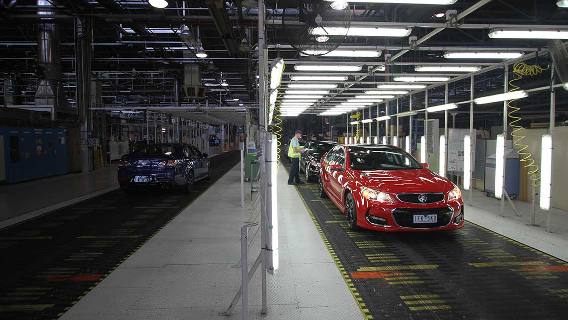 2015 VF Series II Holden Commodore SS-V Redline sedan at the end of the Elizabeth assembly line in Adelaide. Photo credit: Joshua Dowling