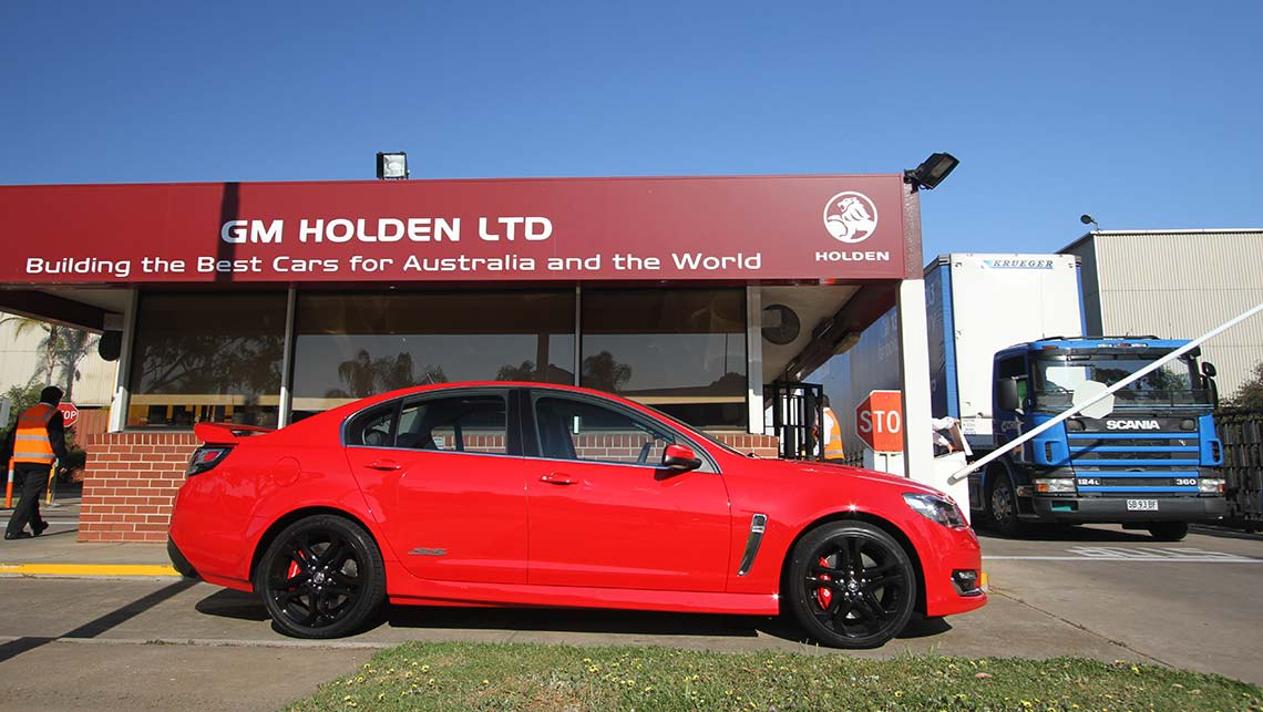 2015 VF Series II Holden Commodore SS-V Redline sedan leaving the Elizabeth plant in Adelaide en route to Mount Panorama, Bathurst. Photo credit: Joshua Dowling