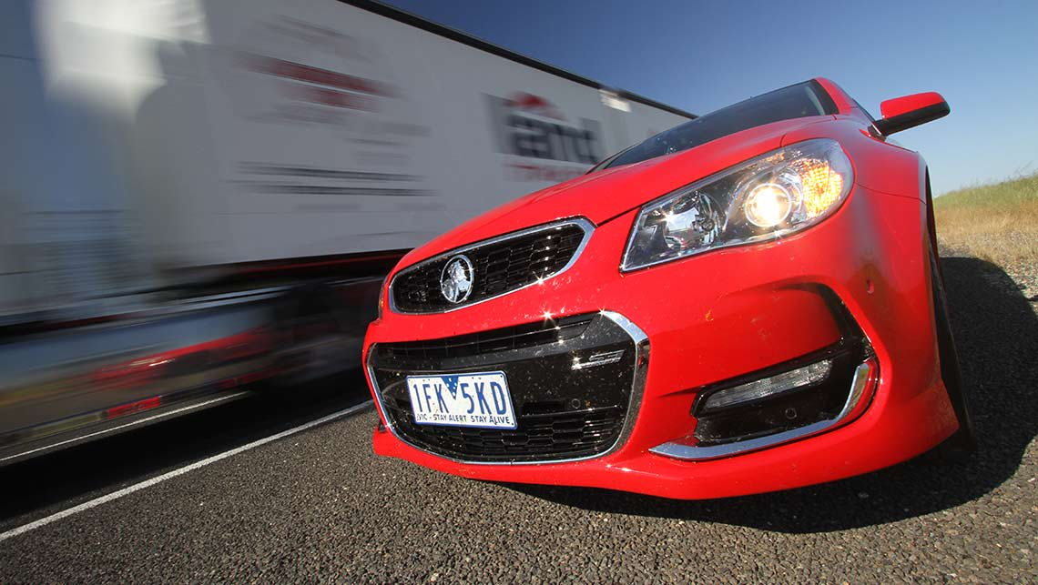 2015 VF Series II Holden Commodore SS-V Redline sedan en route to Mount Panorama, Bathurst. Photo credit: Joshua Dowling