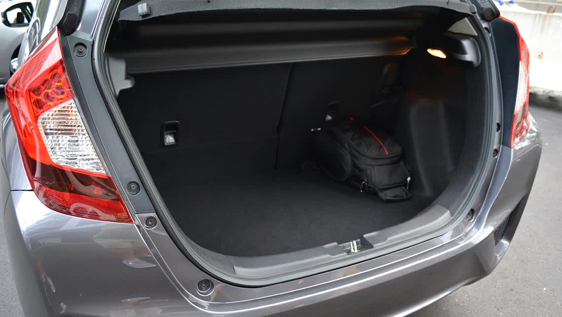 Aside from the incredibly versatile 'magic' folding rear seat, the Jazz's 350-litre VDA boot was easily the largest on test.