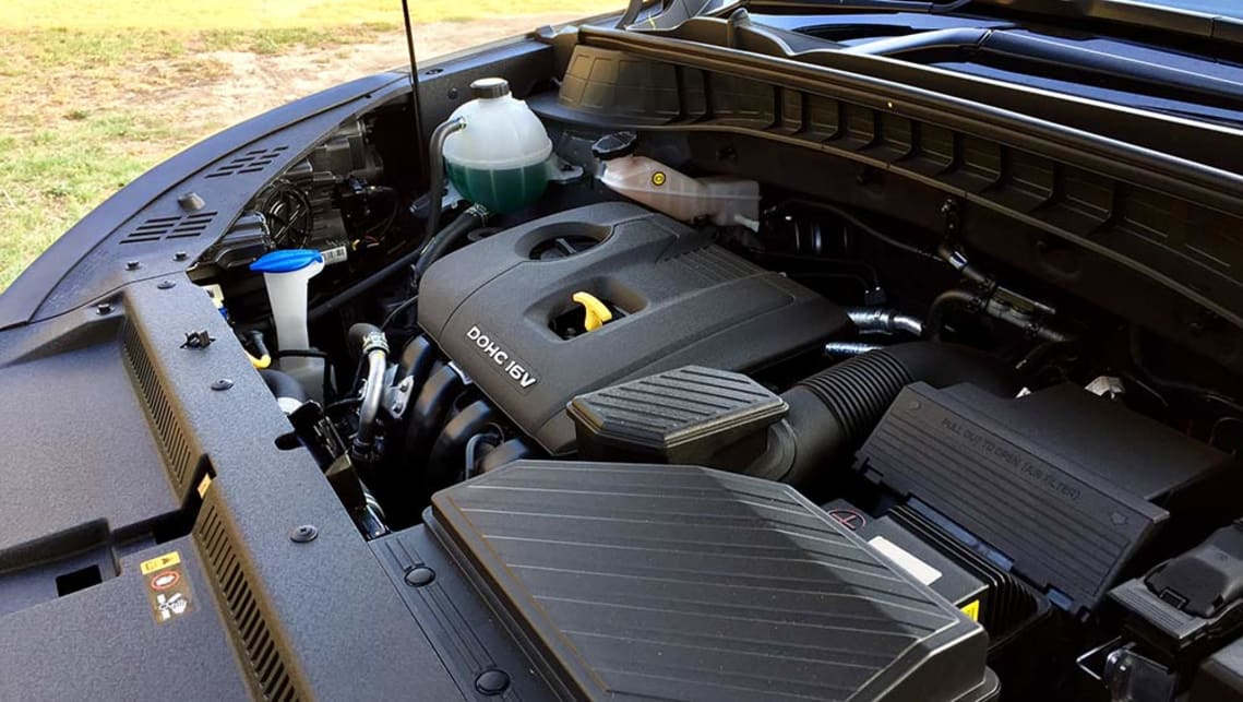 The base-spec 114kW/192Nm 2.0-litre petrol engine.