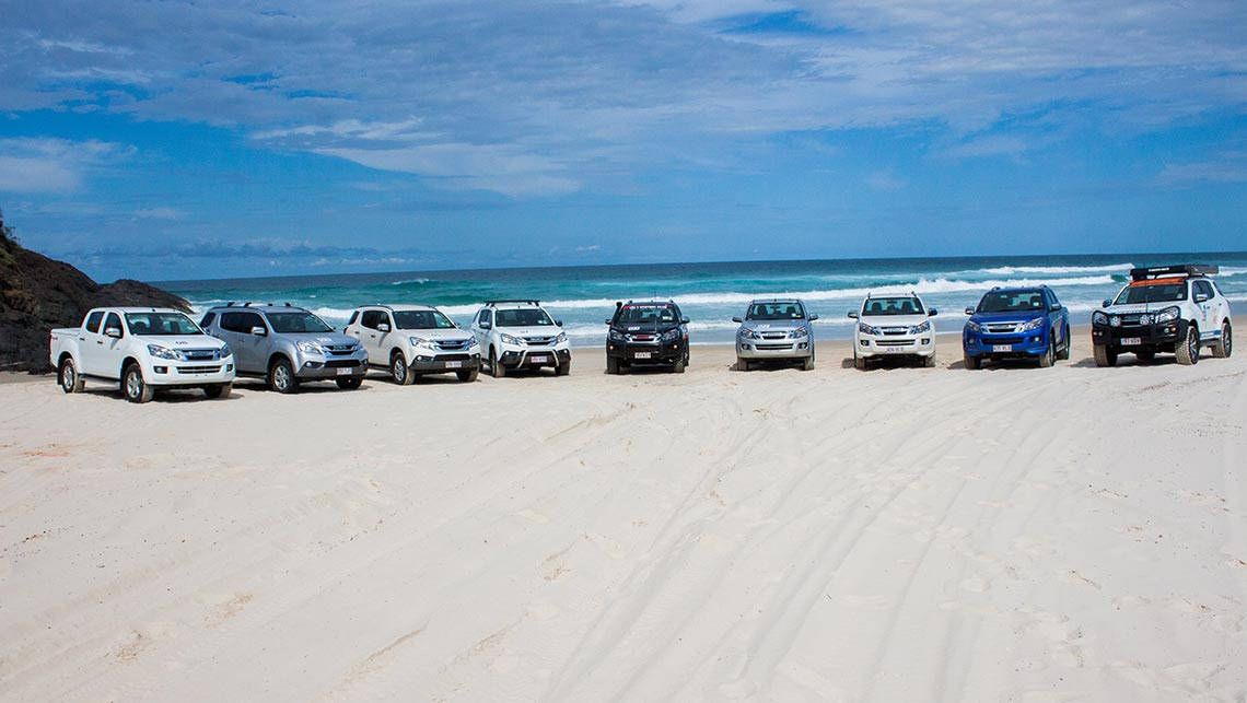 Isuzu Ute I-Venture Club on Moreton Island.