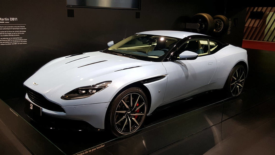 Aston Martin DB11 on the Bridgestone stand.