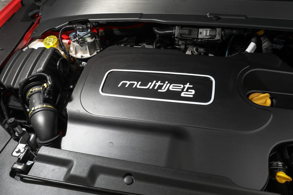 The Trailhawk can only be had with the 2.0-litre MultiJet Diesel producing 125kW/350Nm.