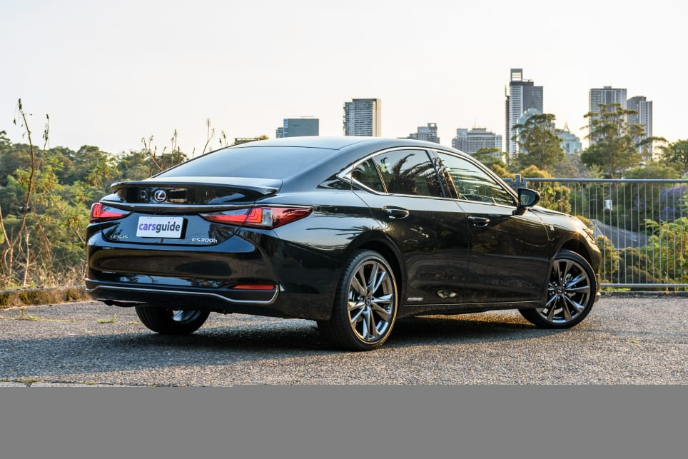The Lexus ES is sold in one 300h grade across three trim levels, the F-Sport is mid-grade.