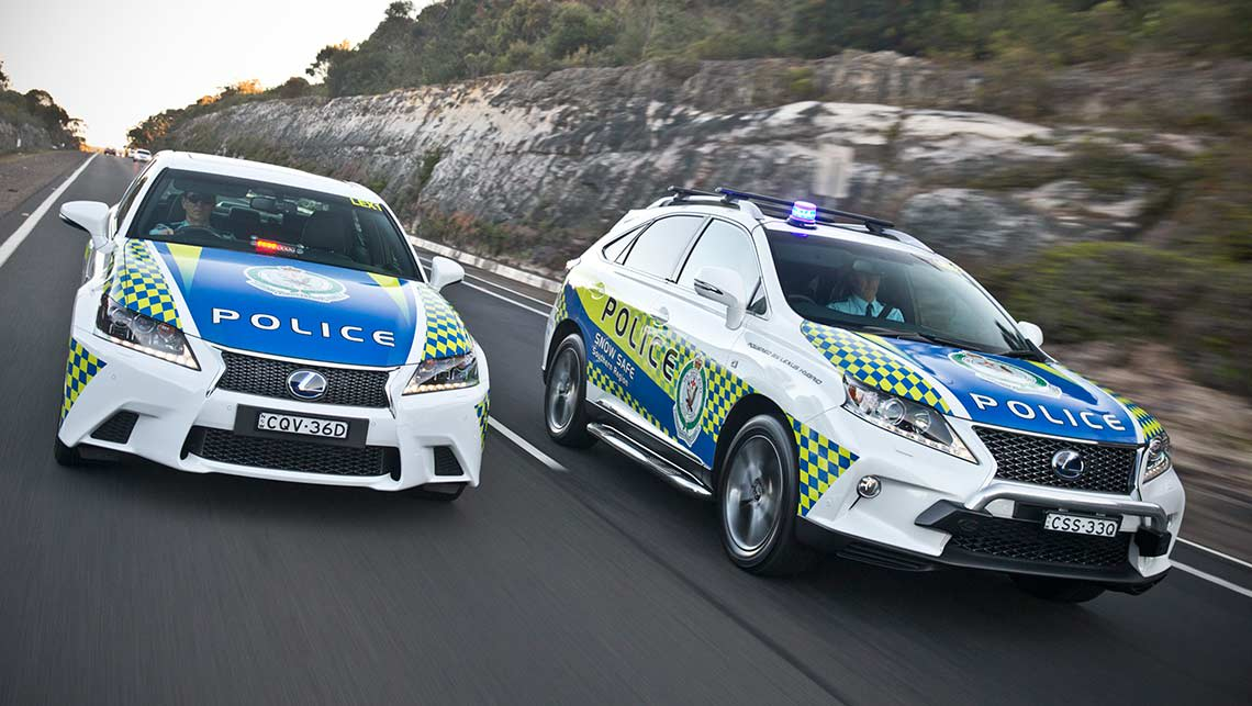 Lexus hybrid NSW Police vehicles