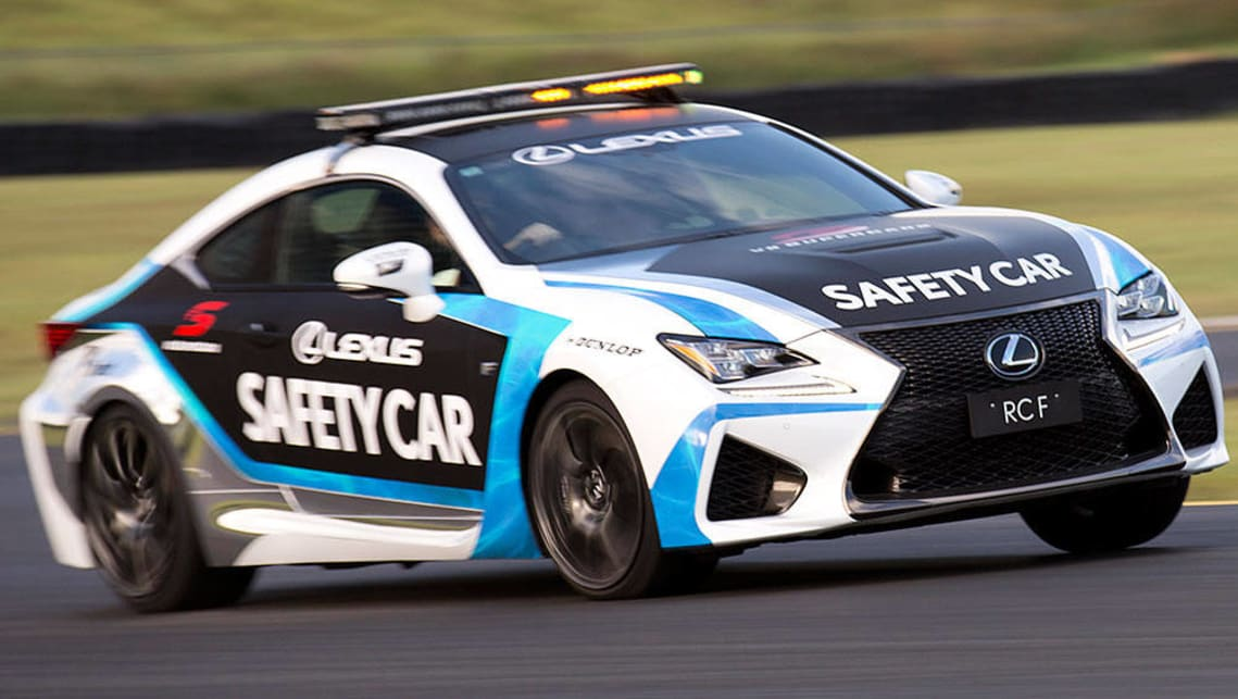 Lexus RC F Safety Car is used in the V8 Supercars Championship