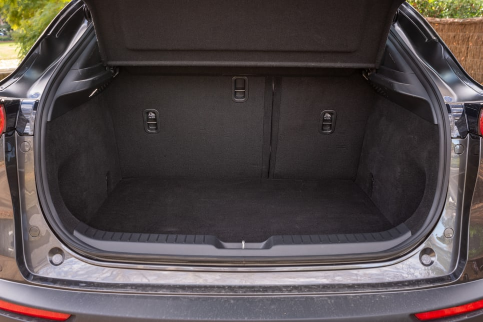 Boot space is rated at 317 litres.