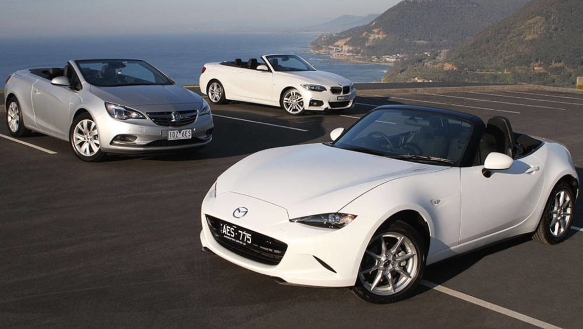 2015 Mazda MX-5, Holden Cascada and BMW 2 Series Convertible