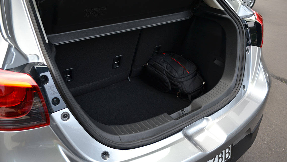 The Mazda2's 250-litre VDA boot is smaller than the Jazz, but near identical the the Yaris.