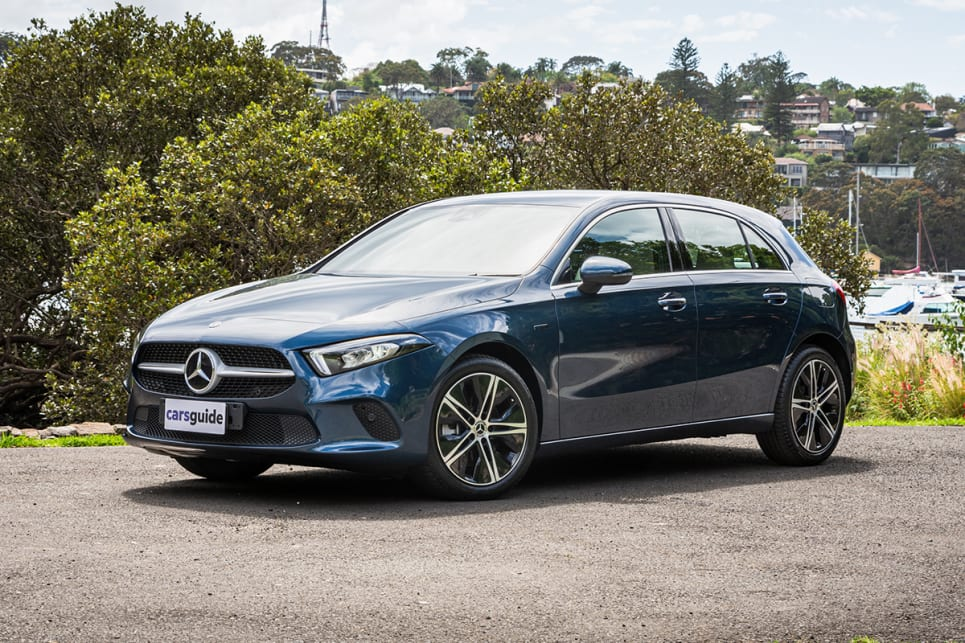 Similar to its GLC 300 e bigger sibling, you'd be hard-pressed to tell the A 250 e is a PHEV at all. (image: Tom White)