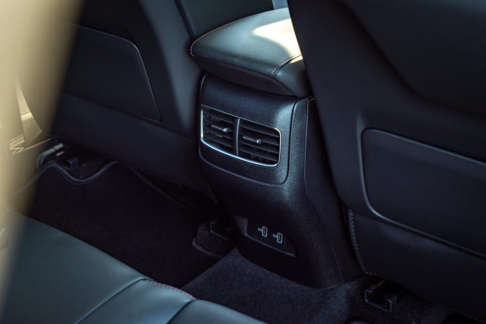 Rear seat passengers get directional air vents.