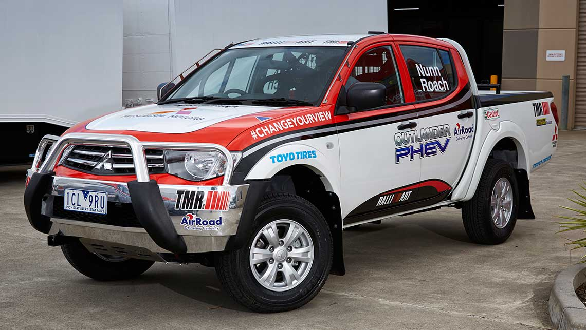 Mitsubishi's Triton support vehicle for the 2014 Australasian Safari rally.
