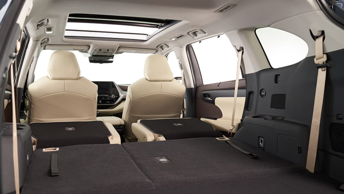 Extra body length contributes to increased interior space with Toyota claiming an additional 30mm of slide capacity for the second row of seats.