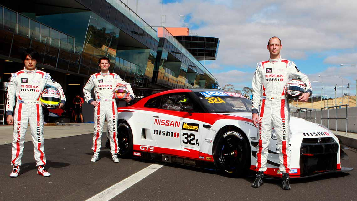 Katsumasa Chiyo, Alex Buncombe and Wolfgang Reip head up Nissan's 2015 Bathurst 12 Hour assault.