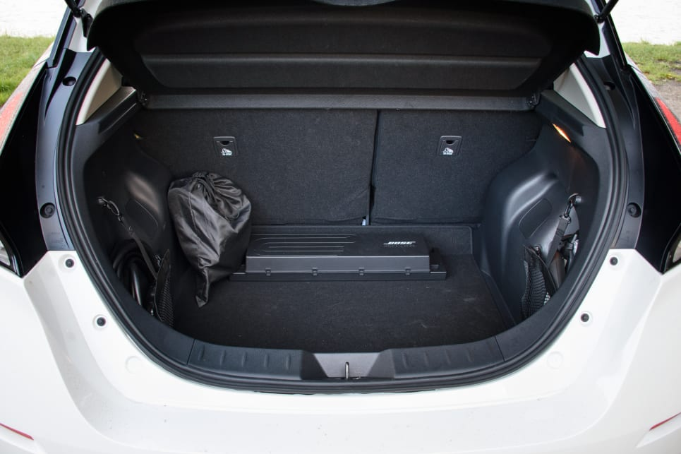Despite a plethora of cables taking up room, the boot has a competitive amount of space. (image credit: Tom White)