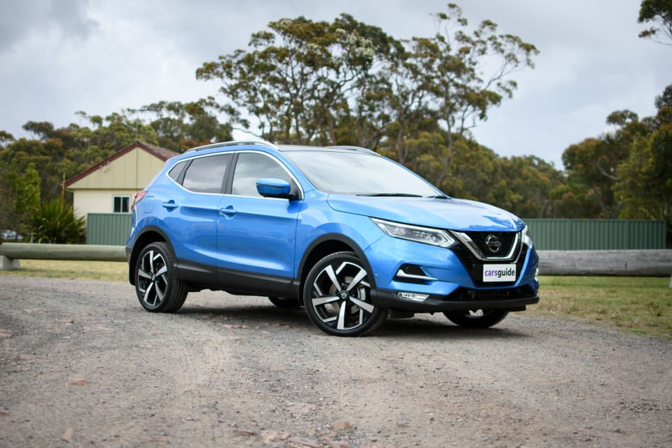 The Nissan Qashqai features a raised seating position and great visibility.