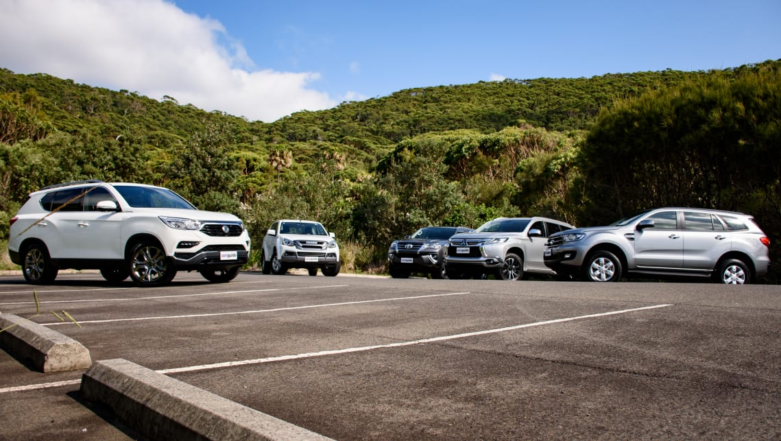 The crew agreed the SsangYong was the most attractive with the Ford Everst the next favourite, followed by the Fortuner.