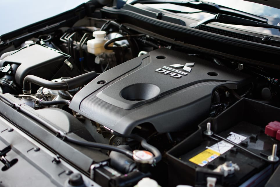 The Pajeros eight-speed auto engine produces 133kW of power and 430Nm of torque.