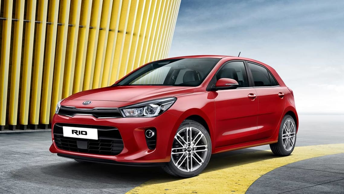 The all new Kia Rio hatch set to appear at the Paris Motor Show.