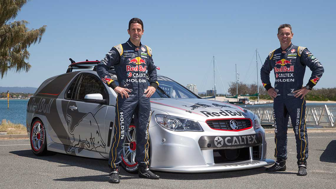 Jamie Whincup and Craig Lowndes with the almost-race-spec Red Bull Racing Australia Project Sandman.