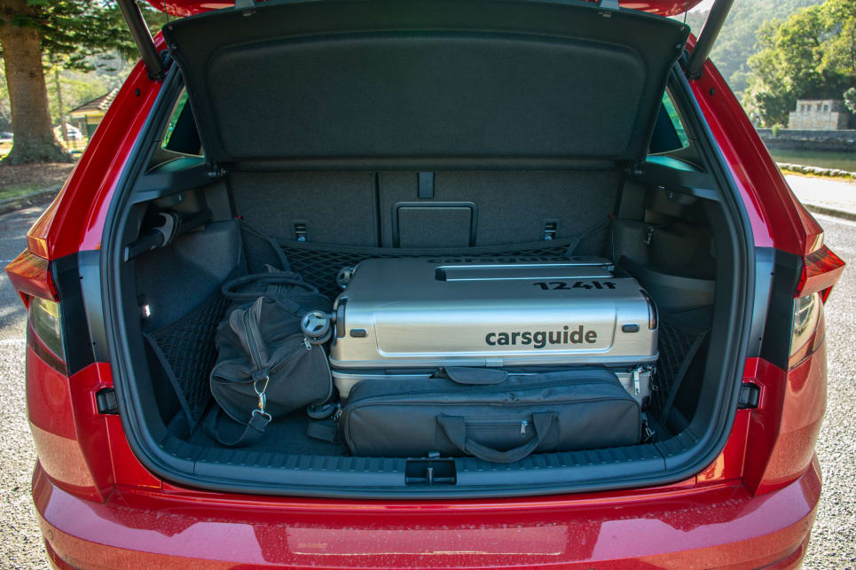 There was room to spare in the boot even with the 124L CarsGuide travel case in there.