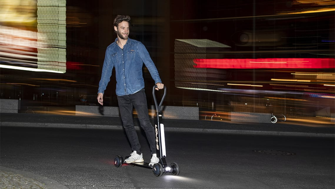 The e-tron scooter is currently a concept, but is will go on sale next year.