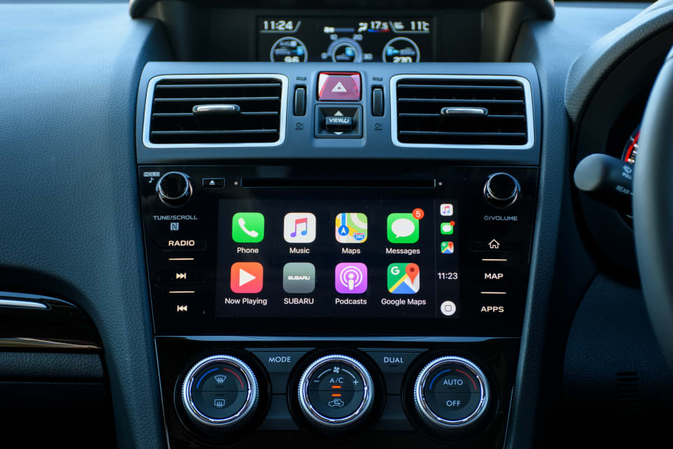Standard features include a 7.0-inch multimedia touchscreen with Apple CarPlay and Android Auto.