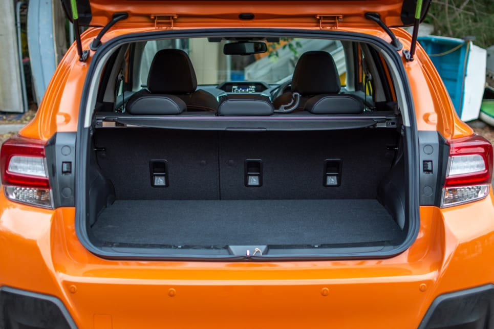 The XV's boot space dimensions are limited.