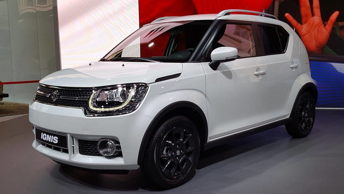 2017 Suzuki Ignis on display at last week's Paris motor show.