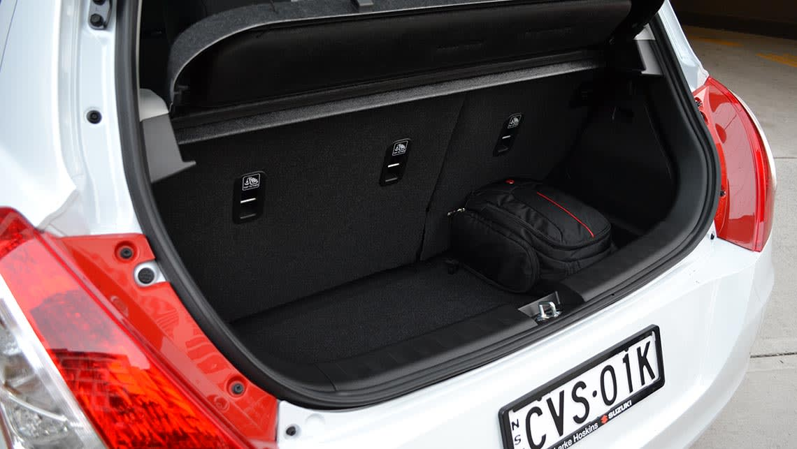 The Swift's 210-litre boot was easily the smallest of our quartet.