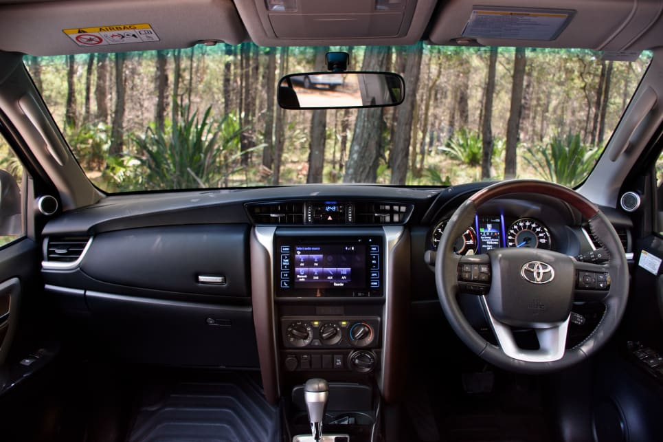 The Toyota Fortuner's cabin is different enough to the HiLux to make it feel more family focused.
