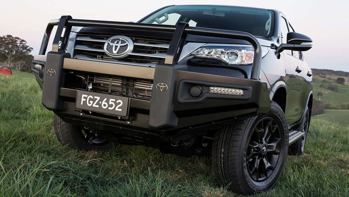 2015 Toyota Fortuner GX with Toyota Genuine steel bull bar