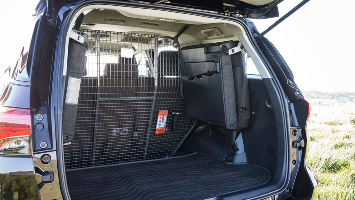 2015 Toyota Fortuner GXL with Toyota Genuine cargo barrier and bootliner