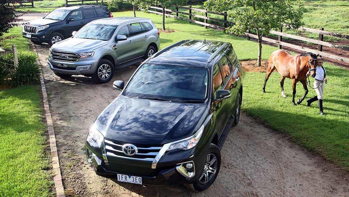 Ford Everest, Toyota Fortuner and Toyota Land Cruiser Prado