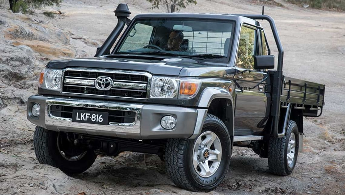 2016 Toyota LandCruiser 70 Series Cab Chassis with optional tray.