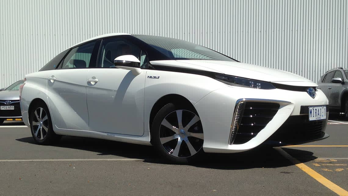 Toyota's first mass-produced hydrogen car, the Mirai, has landed in Australia.