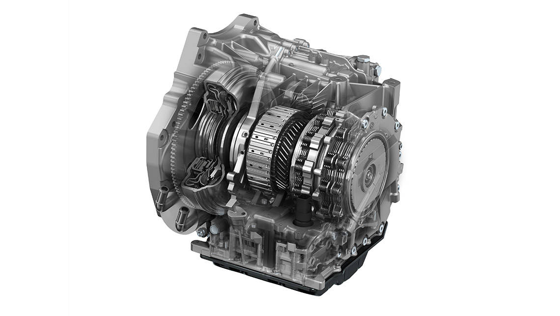 Torque converter transmissions offer big torque at low revs, but are generally less efficient than single and dual-clutch transmissions.