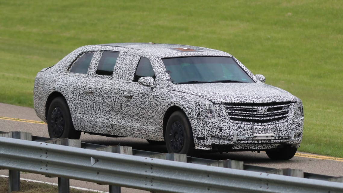 Trump S New Presidential Limo Spied Car News Carsguide