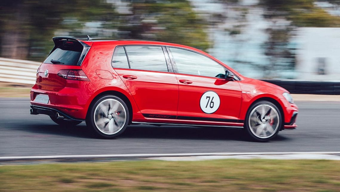 2016 Volkswagen Golf GTI 40 Years at the track.