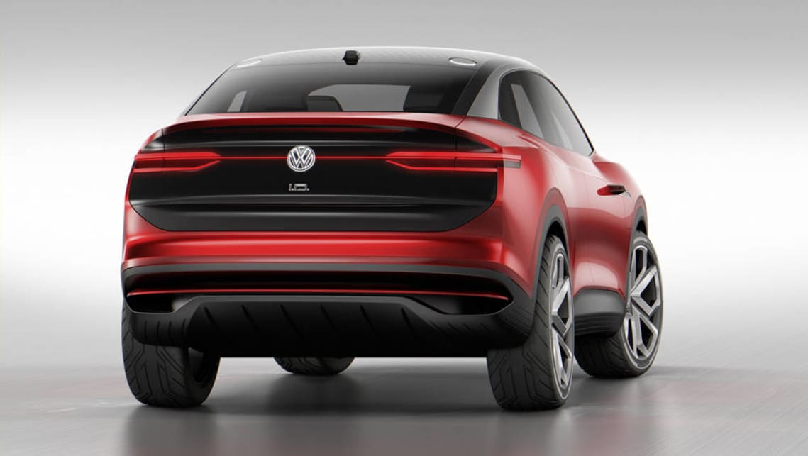 The concept's styling is a mix between an SUV and a four-door coupe.
