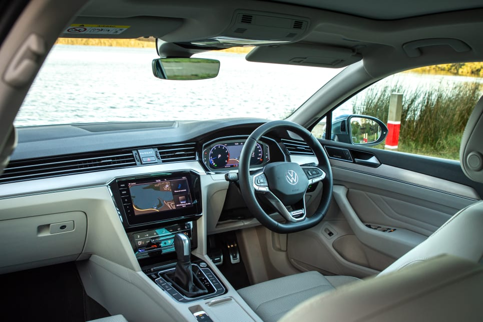 The cabin feels cavernous, with large but supportive front seats and excellent adjustability.