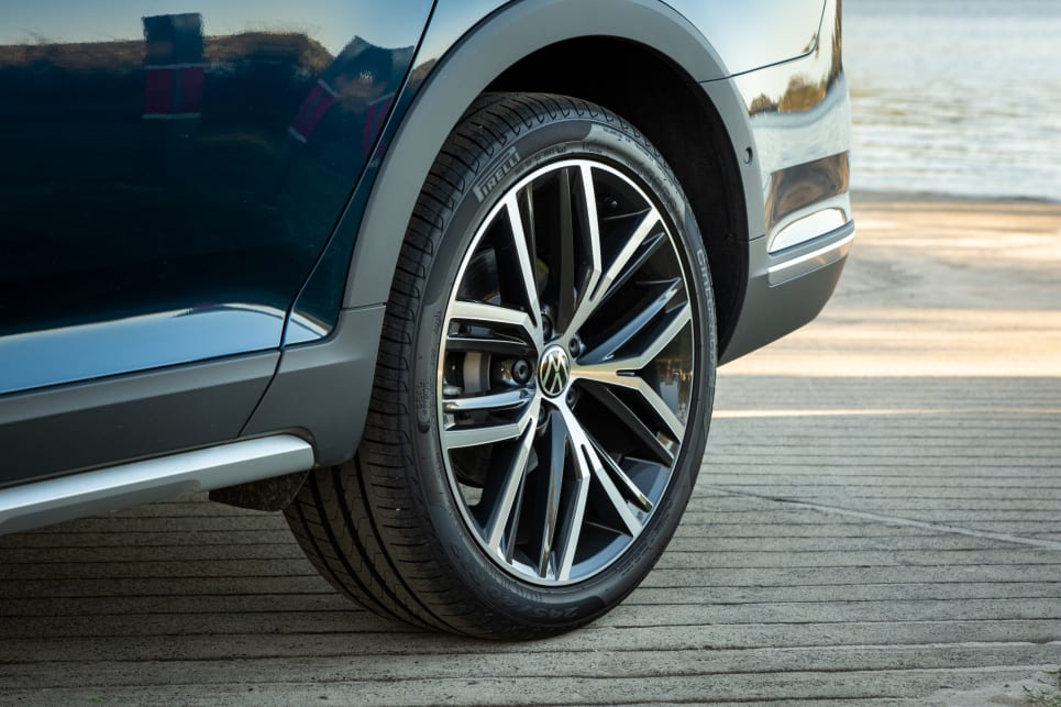 The Alltrack Premium 162 TSI has huge 19-inch alloys.