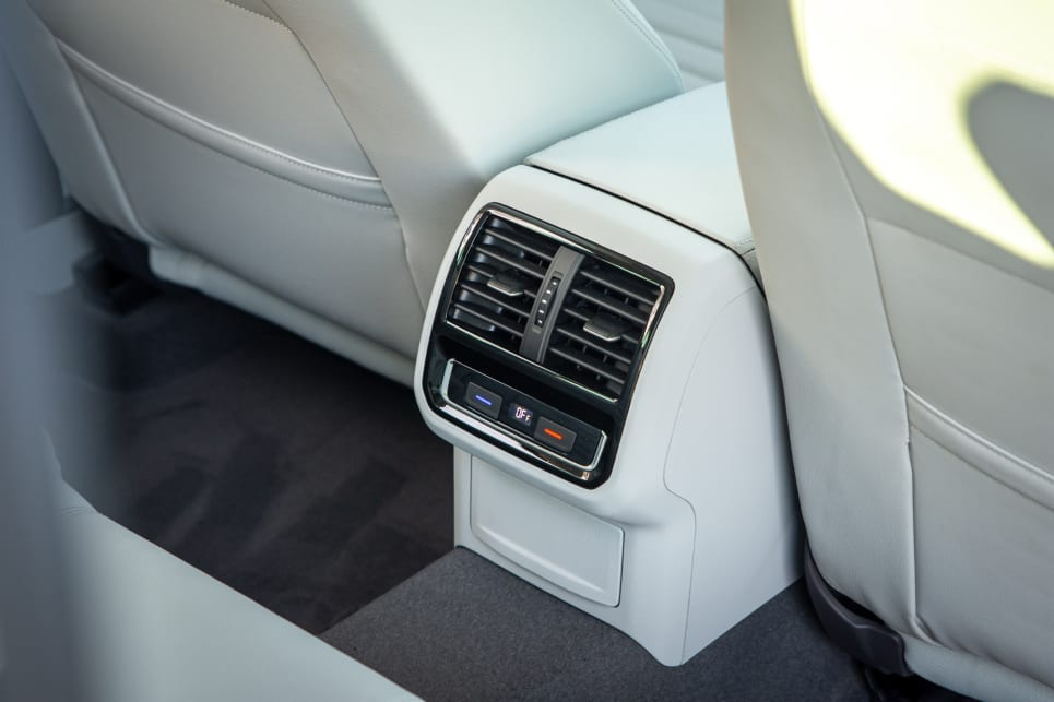 The back seat builds on this car's excellent practicality with its very own climate zone, dual adjustable air vents.
