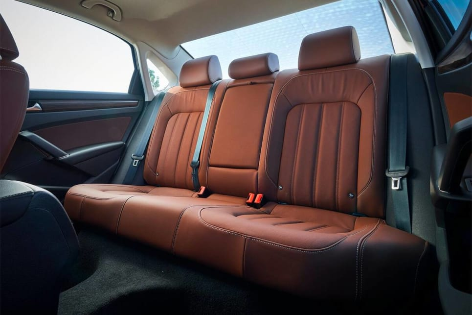 The Passat has five seats which will suit even larger adults.