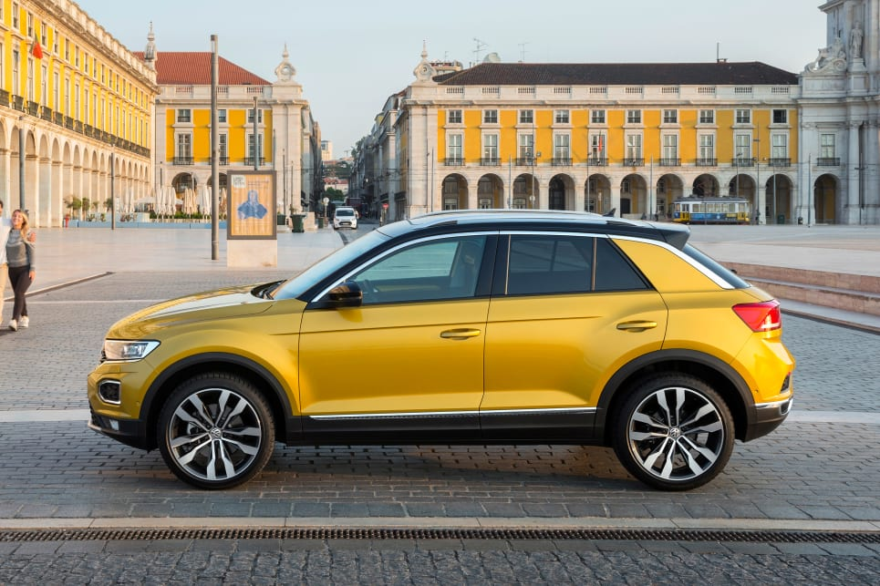 It's good to see the T-Roc not looking simply like a bloated Golf.