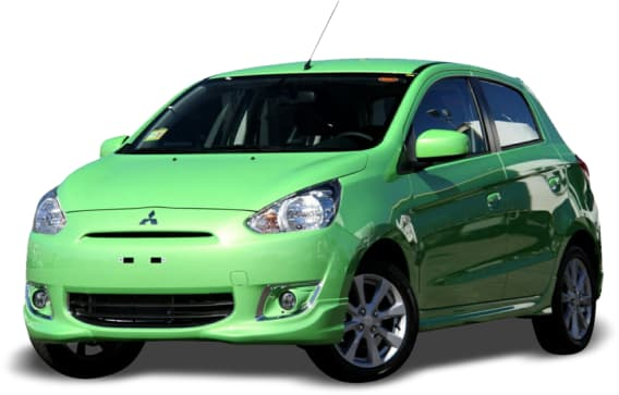 2013 Mitsubishi Mirage Hatchback LS Pop Green Plus Pack
