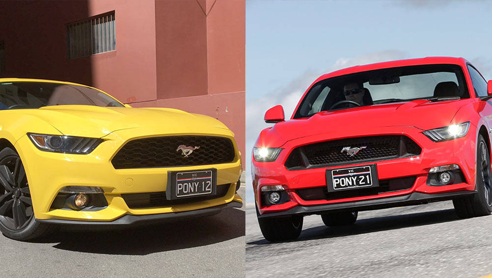 Ford Mustang EcoBoost vs Ford Mustang V8 GT Review | CarsGuide