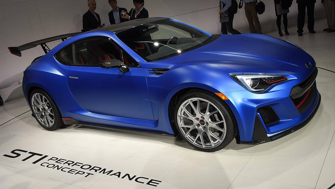 Subaru Brz Turbo >> Subaru Shows Off Brz Turbo Concept Car News Carsguide